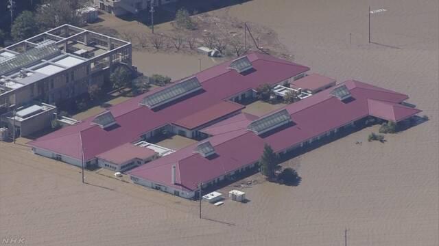 川越氾濫場所地図